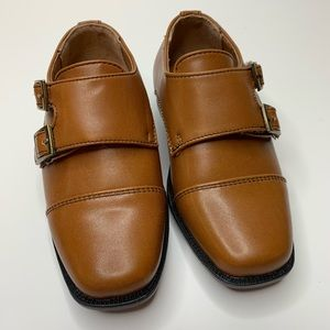 Perry Ellis Brown Monk Dress Shoes